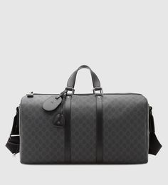 GG supreme canvas carry-on duffle bag