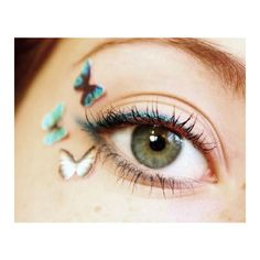 Tiny Temporary Tattoo Makeup Teen Girl Gift Temp Blue Eyeshadow Makeup... ($9.95) ❤ liked on Polyvore featuring accessories, body art, makeup, eyes, bath & beauty, green and makeup & cosmetics