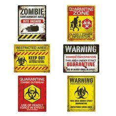 Zombie Posters OrientalTrading.com