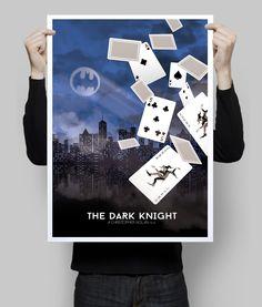 Batman The Dark Knight alternative poster. #batman #etsy #darkknight #geek #geekposter #wallart #walldecor