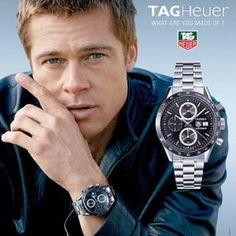 Tag Heuer + Brad Pitt