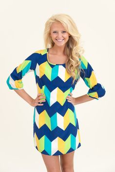 All I Want Is Everything Tunic-Blue