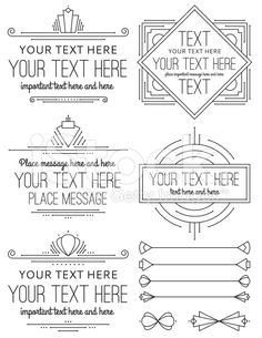 Vintage Art Deco Frames and Elements royalty-free stock vector art