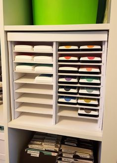 Embellish My World Building your own ink pad storage unit out of foam board. Tutorial for an inexpensive storage solution.  sc 1 st  Pinterest & Hi everyone! A while back I posted photos of an ink pad storage unit ...