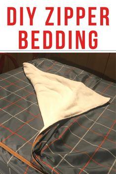 diy zipper bedding how to make \ diy zipper bedding - diy zipper bedding how to make - diy zipper bedding tutorials - diy zipper bedding free pattern Zip Up Bedding, Ruffle Bedding, Bedding Sets, Sewing Basics, Sewing Hacks, Sewing Projects, Diy Projects, Sewing Tips, Sewing Ideas
