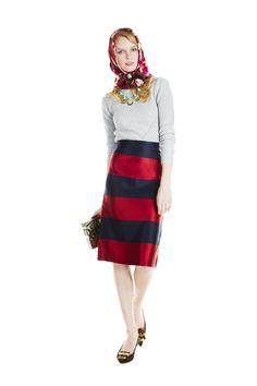 striped burberry skirt