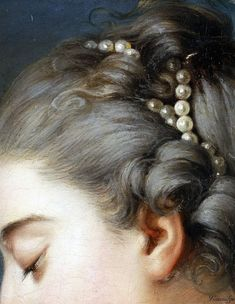 Attributed to Johann Christian von Mannlich, German (active Paris), 1741-1822 -- Young Woman Fastening a Letter to the Neck of a Pigeon (detail)
