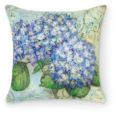 7121: Hydrangea Blue Outdoor Pillow (Product Detail) - I need this pillow