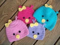 crochet Chick beanies by Mary5604