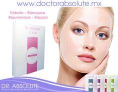 Conseguir la piel perfecta #PropositoAñoNuevo Kit de #Mascarillas #Faciales DR. ABSOLUTE Hidrata – Blanquea – Rejuvenece - Repara