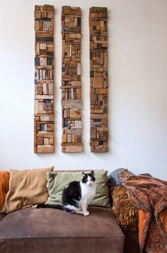 This Warm, Woodsy Home of a Dutch Writer and Driftwood Artist Is the Epitome of . This Warm, Woodsy Home of a Dutch Writ. Driftwood Fish, Driftwood Wall Art, Unusual Facts, Strange Facts, Driftwood Projects, Driftwood Ideas, Seaside Decor, Cushions On Sofa, Wood Turning
