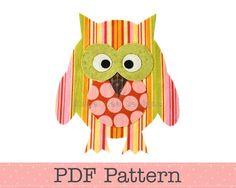 owl pdf pattern Owl Applique, Applique Templates, Iron On Applique, Applique Patterns, Applique Ideas, Owl Themed Nursery, Art Pictures, Art Pics, Beautiful Owl