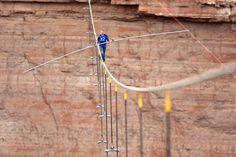 Daredevil Wallenda Crosses Grand Canyon on Tight Rope