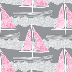 Sailing Dreams in Orchid Ombre fabric by emilysanford on Spoonflower - custom fabric