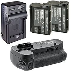 Amazon.com : Battery And Charger Kit for Nikon D7100, D7200 Digital SLR Camera Includes Vertical Battery Grip + Qty 2 Replacement EN-EL15 Batteries + Rapid AC/DC Charger : Camera & Photo