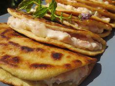 Piadinas de jamón y queso con Thermomix