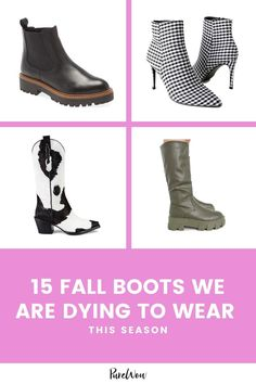 We rounded up 15 pairs of the best fall boots—from ankle to western—so you can live your best, most stylish season to date. Fall Boots, Street Style Looks, City Chic, Night Outfits, Fashion Forward, What To Wear, Fashion Photography, Pairs, Style Inspiration