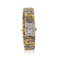 C. 1970. Vintage Tiffany Jewelry Ladies Watch In 18kt Two-Tone Gold. Size 6.5