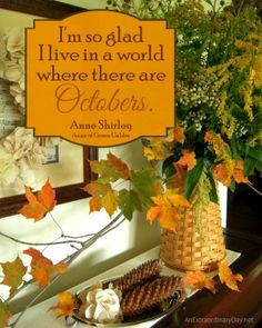 Download a FREE 8x10 Printable :: October quote by Anne Shirley - Anne of Green Gables by Montgomery :: AnExtraordinaryDay.net
