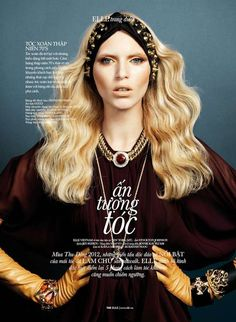 The Elle Vietnam November 2012 Editorial Stars Valeria Dmitrienko trendhunter.com