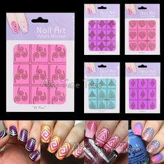 1pcs Nail Art Stencils Tip Nail Vinyls Guide Circle Square Irregular Triangle Star Swirl Spiral Template Stickers Manicure Decal #clothing,#shoes,#jewelry,#women,#men,#hats,#watches,#belts,#fashion,#style