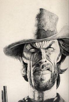 Clint Eastwood (artist) Charles Da Costa - CARICATURE: http://dunway.com/