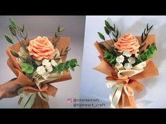 Single Felt Rose Bouquet - Wrapping Bouquet of Flower Rose Boquet, Felt Flower Bouquet, Bouquet Wrap, Felt Roses, Felt Flowers, Diy Flowers, Felt Flower Tutorial, Rose Tutorial, Felt Diy