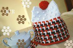 Tunisian crochet / Afghan crochet Tea cozy.
