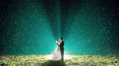 "Why We Love It: Take advantage of the weather and light up the night with a magical wedding photo!Why You Love It: ""The rain adds so much more than any photo editing could."" —Christina Y.  ""Beautiful! A great way to use the weather to your advantage."" —Rebecca T.Photo Credit: Tall   Small Photography"