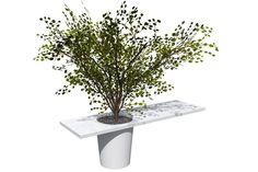 Cowerk Tafelpot bureau en vergadertafel, voor zowel binnen- als buitengebruik. Tafelpot Cowerk in de showrooms. Bel 088-650 12 34