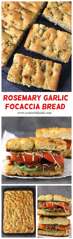 Rosemary Garlic Focaccia is a vegan, easy-to-make, flavorful, soft and fluffy flat oven-baked Italian bread recipe topped with fresh rosemary, garlic, and olive oil.