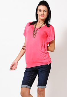 Bright Pink Top With Funky Sleeves Price: Rs 899