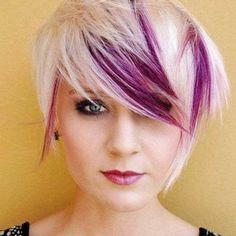 Check Out 20 Best Funky Short Hair. The color is used to increase your personality, complement your hair cut and making it unique to you. Get inspired with dramatic and daring 20 Best Funky Short Hair. Hair Color Purple, Cool Hair Color, Purple Bob, Hair Colors, Deep Purple, Purple Pixie Cut, Magenta, Lilac, Blonde Color