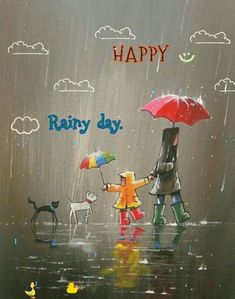 Discover & share this Gif Rainy Day Happy Smile Cat Dog Ducks Raindrops GIF with everyone you know. GIPHY is how you search, share, discover, and create GIFs. Good Morning Rainy Day, Cute Good Morning, Morning Pictures, Good Morning Images, Rainy Day Pictures, Rainy Day Drawing, Rainy Day Quotes, Rain Gif, I Love Rain