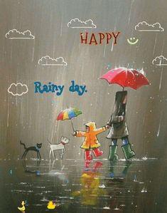 Cute 😍😘 Beautiful gif, Rain gif, Umbrella art