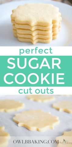 Perfect Sugar Cookie cut outs are soft, thick, sinfully buttery and taste amazing whether they are decorated or not! Make easy sugar cookie cut outs that keep their shape & edges. This is a no-chill recipe! #BestSugarCookieRecipe #CookieRecipes #Nochillcookierecipe #EasyCookieRecipes #Softsugarcookies