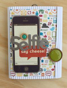 Caroli Schulz Scrapbooking: Selfie - Mini-Album Taller RevesDerecho 24/01