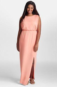 Mynt 1792 Sleeveless Jersey Blouson Maxi Dress (Plus Size)