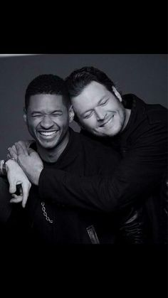 the voice Usher & Blake.. Ohhhh these two!  they crack me up! so funny they egg each other on great guys both enjoy their humor .