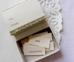 message in a matchbox  birthday by SepiaSmiles on Etsy