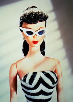 Oh, Hai. (Unique Vintage Black & White Stripe Barbara One-Piece Swimsuit)