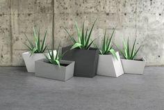 geometric planter boxes - LOVE