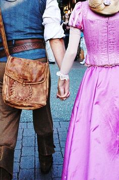 Rapunzel and Flynn Face Characters