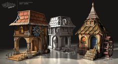 Banjo Kazooie - Nuts & Bolts - Houses Picture  (3d, fantasy, architecture, game art, houses)