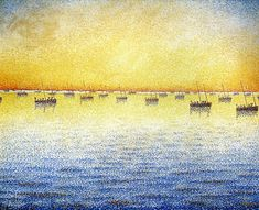 Sardine Fishing, Concarneau ~ Paul Signac Paul Victor Jules Signac was a French neo-impressionist painter who, working with Georges Seurat, helped develop the pointillist style. Georges Seurat, Paul Signac, Maurice Utrillo, Web Gallery Of Art, Fauvism, Henri Matisse, Oeuvre D'art, Belle Photo, Van Gogh