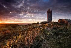 Scrabo Tower is located in County Down, Northern Ireland.  It was built on a volcanic plug above the town in 1857 as a memorial to Charles Stewart, 3rd Marquess of Londonderry who was one of the Duke of Wellington's generals during the Napoleonic Wars.