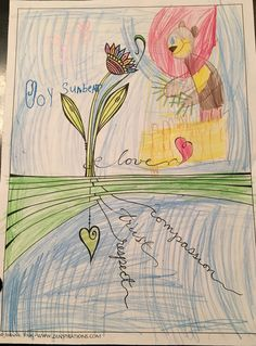 We #love when #kids send us their beautiful #artwork! This little girl added Joy Sun Bear to her Zenspirations by Joanne Fink picture!  #art #drawing #color #coloring #children #create #creative #joy #sunbear #design #fun #express #inspire #dream #trust #respect #compassion
