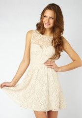 Lipsy Lace Embroidered Skater Dress