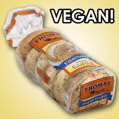 thomas' everything bagels - they're vegan! #MyVeganJournal