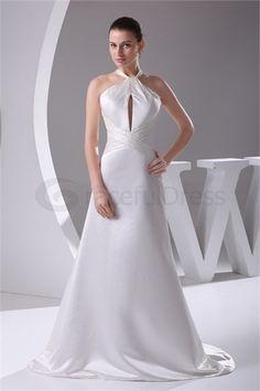 A-Line Empire Halter Outdoor/ Garden Wedding Dress  http://www.GracefulDress.com/A-Line-Empire-Halter-Outdoor-Garden-Wedding-Dress-p19584.html